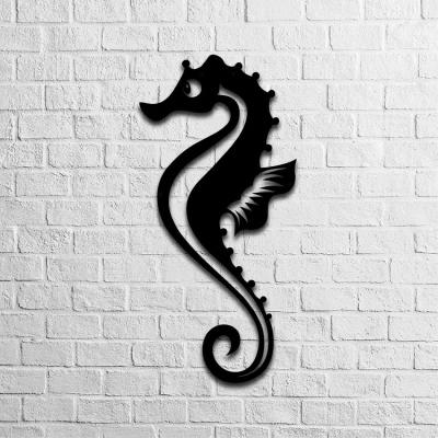 Winged Seahorse Metal Decor